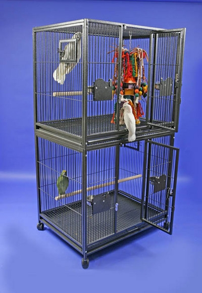 Breeder's Delight Double Deck Parrot Cage