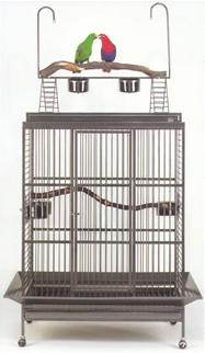 Stainless Steel Castillo Playtop Parrot Cage