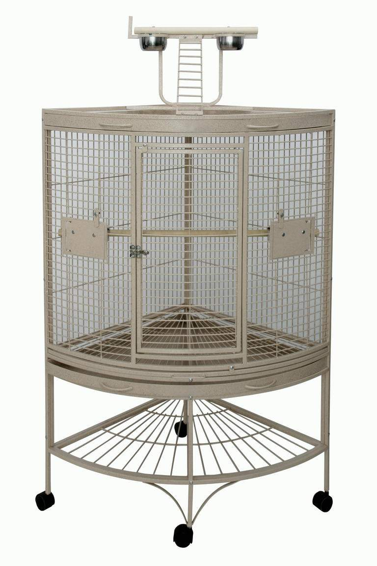 Corner Deluxe Bird Cage With Playtop
