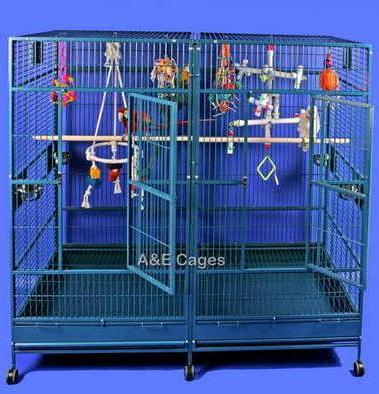 Stainless Steel Double Macaw Parrot Cage