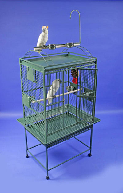 Grey Palace Playtop Bird Cage