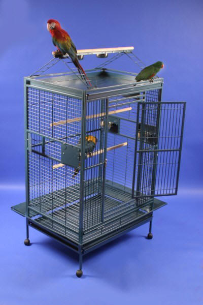 Grey Palace XL Playtop Bird Cage