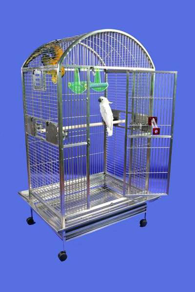 Stainless Steel Grey Palace XL Dometop Bird Cage by AE Cage Co