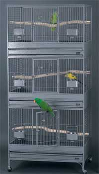 Click to see the Triple Vista Bird Breeder Cage